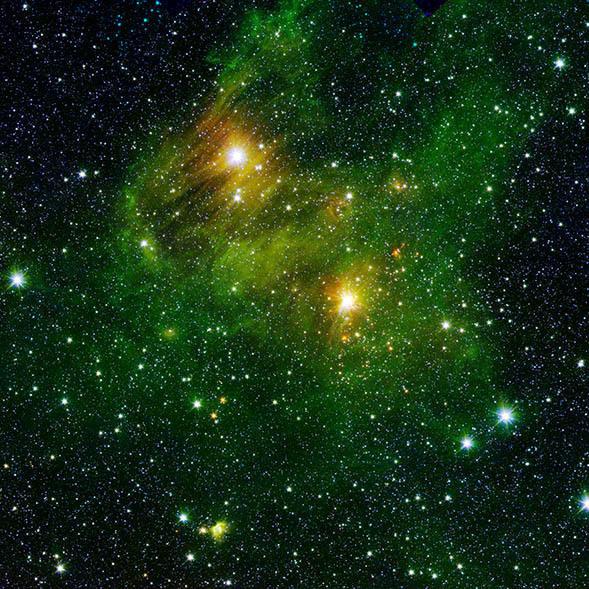Un Paesaggio Cosmico Di Stelle Neonate Universo Astronomia