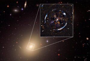 Un anello di einstein per confermare einstein universo astronomia